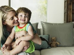 82172824 mother toddler son