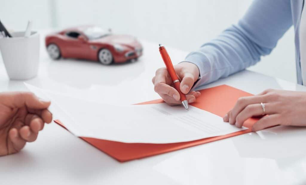 signing car insurance